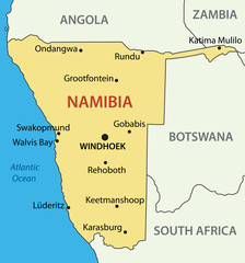 Republic of Namibia - vector map