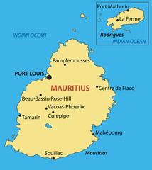Republic of Mauritius - vector map