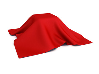surprise box covered with red cloth