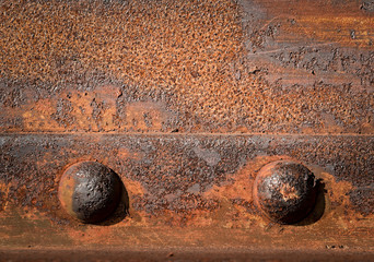 two iron rivets