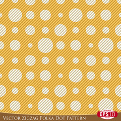 Vector Zigzag Polka Dot Pattern f