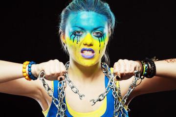 ukrainian patriotic woman