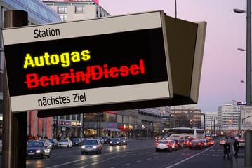 Anzeigetafel 5 - Autogas