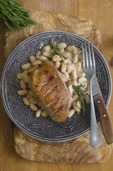 Duck with beans