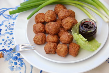 Köttbullar traditional Swedish meatballs