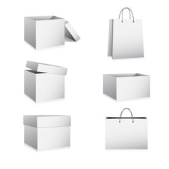 Boxes and Bags Vector