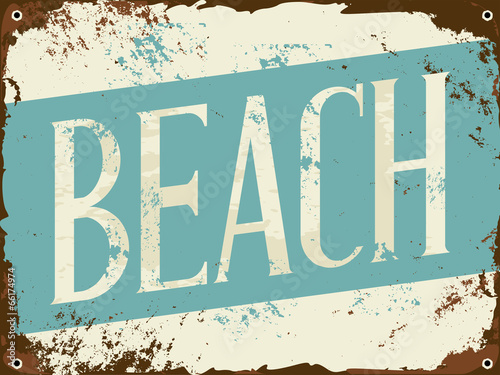 Beach Tin Sign - 66174974