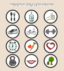 Vector icons health