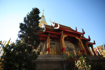 Front of golden pagodas