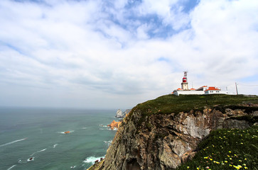 lighthouse and cliffs on Cabo da Roca