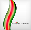 Smooth colorful business elegant wave design