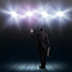 Speaker on stage