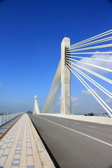 Cable-stayed bridge is located in Guangxi, China