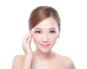 woman eye care concept