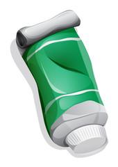 A green medicinal tube
