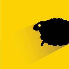 sheep in yellow background