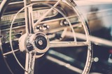 Interior of a classic american car