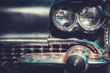 Ret rod style american car facia