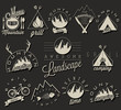 Retro vintage style symbols for Mountain Expedition - 66180572