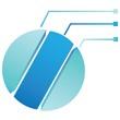 blue circle diagram, process template