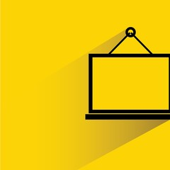 black frames on yellow background