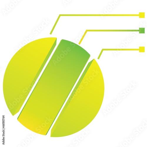 green circle diagram, process template