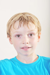 Portrait of a young five year old boy.