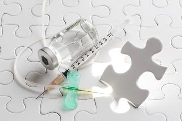 パズルと医療器具