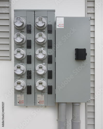 Smart digital residential power supply meters - 66182127