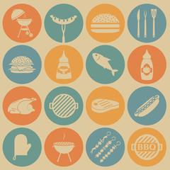 BBQ icons.