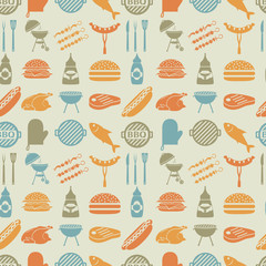 BBQ seamless pattern.