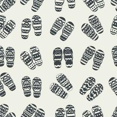 Flip flops seamless pattern