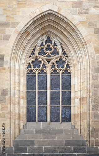 Papiers peints Prague Gothic window