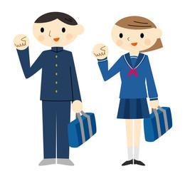 学生鞄を持つ学生