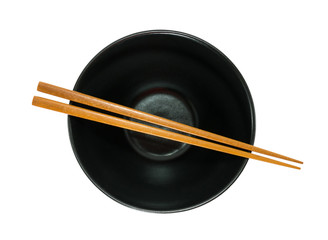 empty bowl and chopsticks