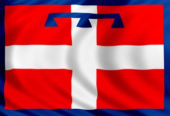 Piedmont flag of silk
