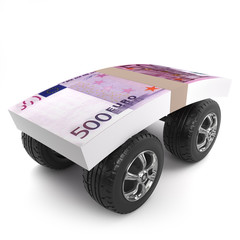 3d Euros on wheels