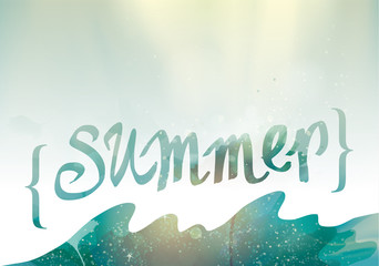 SUMMER / Original season background to further customize