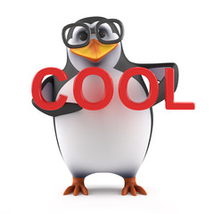 3d Academic penguin is cool