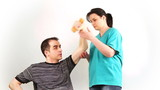 Therapeutic exercise for adults in wheelchair to arms poster