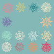 Cute Retro Snowflakes. EPS 8