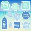 Zdjęcia na płótnie, fototapety, obrazy : Summer holiday vacation stickers and labels