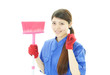 笑顔の清掃作業員