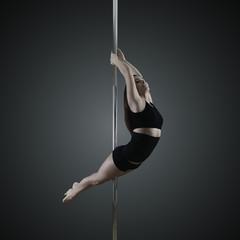 pole dancer, young woman dancing on pylon
