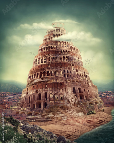 Foto op Canvas Temple Tower of Babel