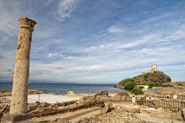 sardinia roman castle nuraghe tower