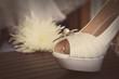 canvas print picture - bridal shoes