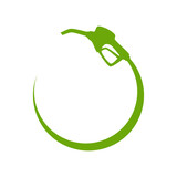 Green gas pump icon