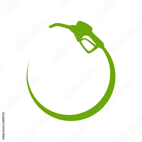 Green gas pump icon - 66187152