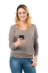 Beautiful Woman Texting On Phone